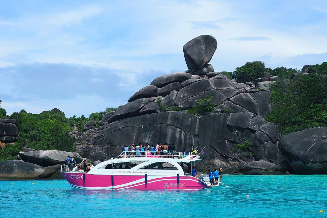 เกาะสิมิลัน ราคา เรือสปีดคาตามารัน 2 ชั้น