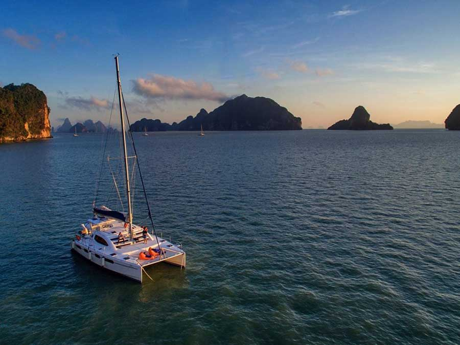 ทัวร์ครึ่งวันบ่าย-เกาะไม้ท่อน-ล่องเรือชมพระอาทิตย์ตก-เรือคาตามารัน-เที่ยวภูเก็ต