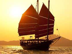 ล่องเรือสำเภา-จูน-บาทรา-ชมพระอาทิตย์ตก-อ่าวพังงา