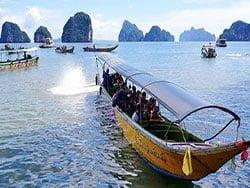 เช่าเรือหางยาว-ราคาถูก-เที่ยวอ่าวพังงา