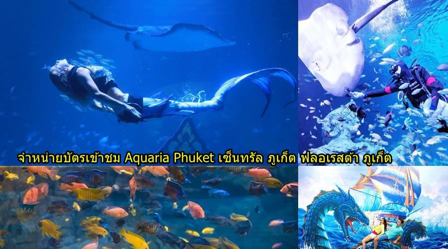 จำหน่ายบัตรเข้าชม Aquaria Phuket เซ็นทรัล ภูเก็ต ฟลอเรสต้า ภูเก็ต