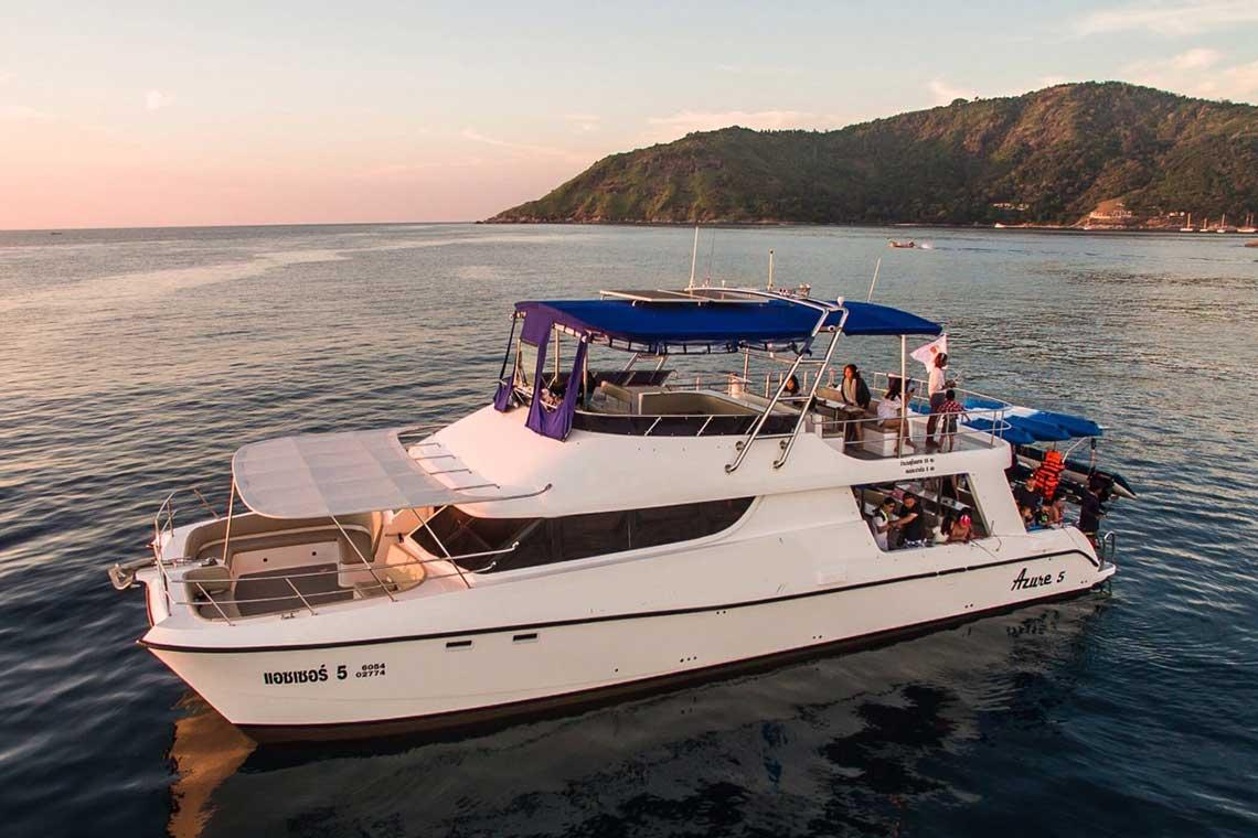 ทัวร์เกาะพีพี เกาะไม้ท่อน ดูโลมา Discover Catamaran